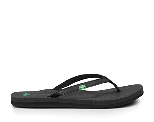 Sanuk Women's Yoga Joy Flip Flop,Black,9 M US