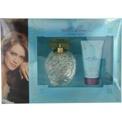 WITH LOVE HILARY DUFF by Hilary Duff Gift Set for WOMEN: SET-EAU DE PARFUM SPRAY 3.3 OZ & BODY LOTION 1.7 OZ