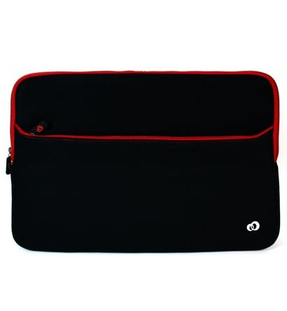 MSI 15.6 inch Notebook Laptop X600 Slim Hateful Neoprene and Red Zipper with large compartment reticule for accessories