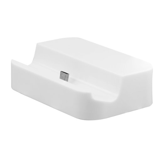 Docking station Micro USB WHITE for Samsung Galaxy S3 i9300 i9000 S4 i9500 Note 2 N7100 N7000 mini i8190 S2 i9100 LTE Ace 2 i8160 Plus S7500 / LG Optimus Speed P990 P880 L3 L5 E610 L7 P700 / Nokia Lumia 720 820 900 920 kwmobile