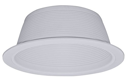 "6"" Inch White Baffle Recessed Can Light Metal Trim for BR30 PAR30"