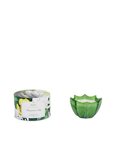 D.L. & Co. Amazonian Lily 10-Oz. Etched Scallop Candle