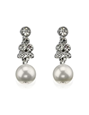 M&S Collection Pearl Effect Vintage Style Drop Earrings