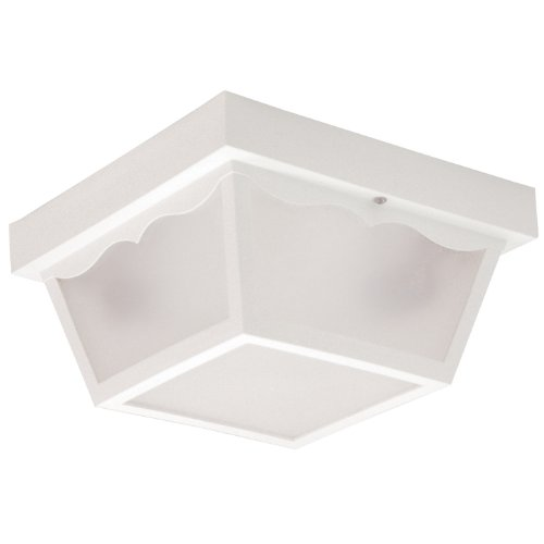 Sunlite 47236-SU DOD/CC/WH/FR/MED Decorative Outdoor Century Collection Fixture with  Frosted Lens,  White Finish