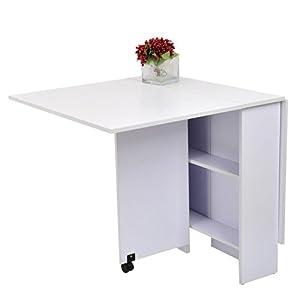Outsunny tavolo pieghevole scrivania tavolo mensola - Tavolo pieghevole cucina ...