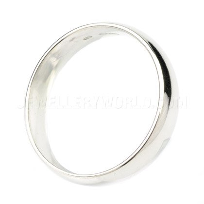 5mm Platinum Court Wedding Ring