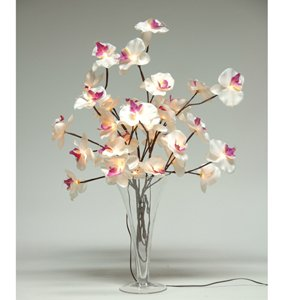 Butterfly Orchid Lights - White - Fairy Light Twigs
