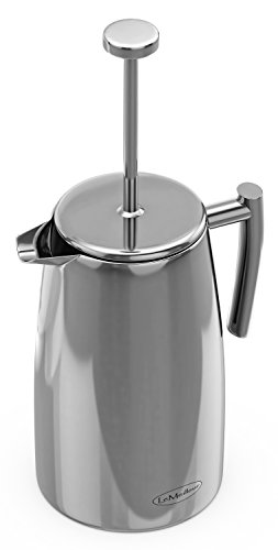LeMeilleur French Press Coffee Maker - Shatterproof - Quality Anti Rust 18/10 Stainless Steel ...
