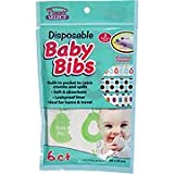 Disposable Baby Bibs - Ideal For Home & Travel, 6 ct,(Parents Select)