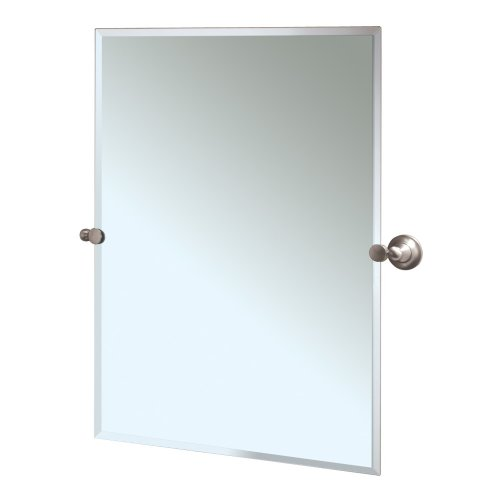 Gatco 4339S Tiara Rectangular Wall Mirror, Satin Nickel