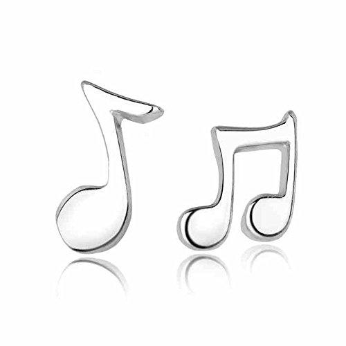 925 d'argento bello sveglio musica nota delle ragazze degli orecchini semplici per Ragazze