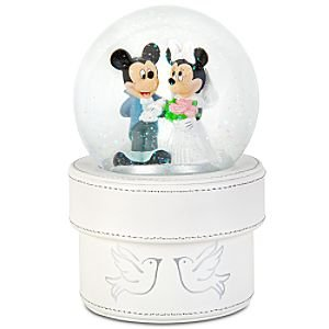 Disney Minnie and Mickey Mouse Wedding Snowglobe Gift Box