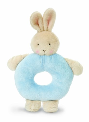 Bunnies By The Bay Bunny Ring Rattle, Blue