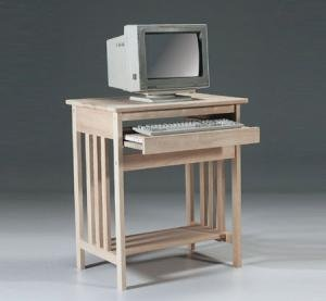 Buy Low Price Comfortable Unfinished Mission Wood Computer Cart (B0017LQ5UA)