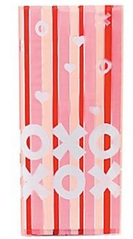 Valentine Hugs and Kisses Cellophane Bags - 1 Dozen - 1
