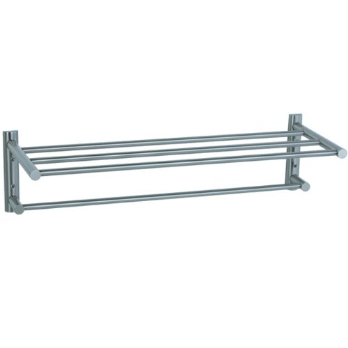 Cifial 422.225.620 Techno Two Tier Towel Shelf, Satin Nickel