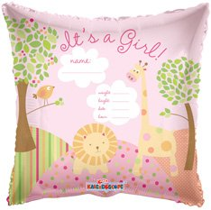 18 Inch Its A Girl Jungle Balloon - 1