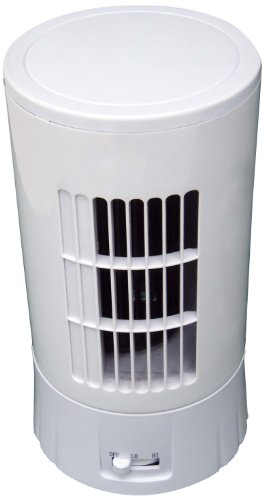 Optimus F-7324 Ultra Slim 10-Inch Desktop Tower Fan, White