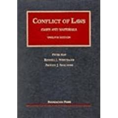 Conflict of Laws: Cases and Materials (University Casebook)