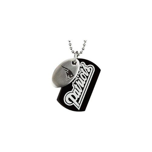 66 St Steel 45mm New England Patriots NFL Football Team Jewelry Men 2 Dog Tag W/Chain