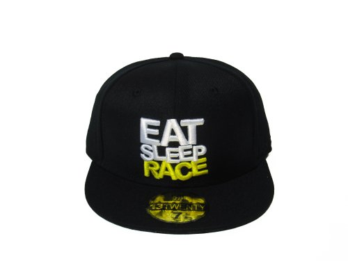 EAT SLEEP RACE Adult Team Fitted eat dirt