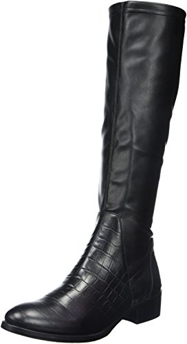 Jb MartinAustrale - Stivali classici al ginocchio Donna , Nero (Noir (T Velv St/Vrio Em Lit Croc Noir)), 37