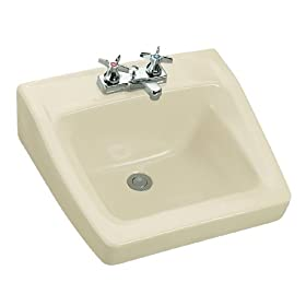 Kohler K-1729-47 Chesapeake Wall-Mount Lavatory, Almond