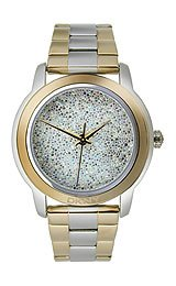 DKNY 3-Hand Pave Crystal Two-Tone Women's watch #NY8777