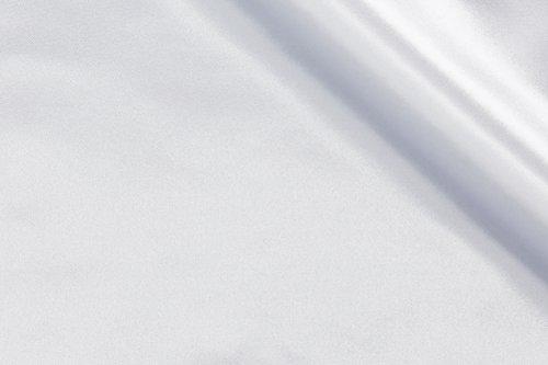 丸信商事 サテン 無地 生地 ポリエステル100% 約116cm巾×1mカット col.KW ホワイト 1000