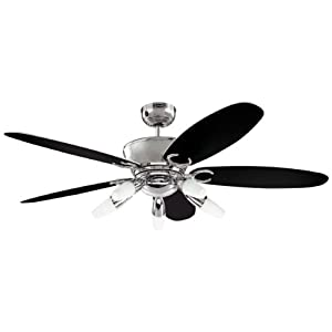 5 Blade Ceiling Fan With Light Westinghouse 7255940 Arius - Ventilador de techo: Amazon ...