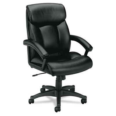 HON HVL151 Executive High-Back Chair for Office or Computer Desk, Black