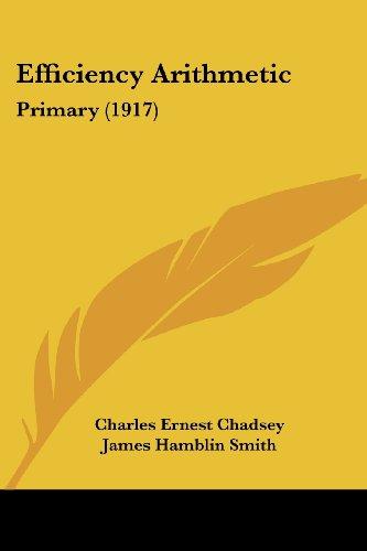 Efficiency Arithmetic: Primary (1917)