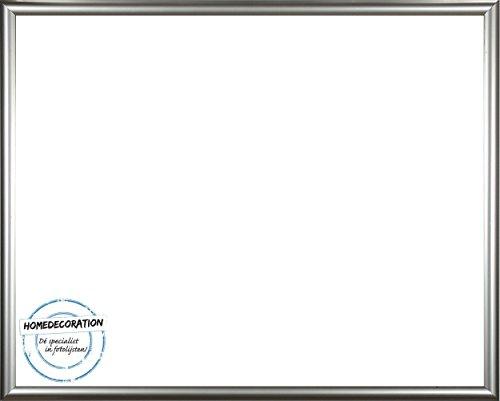 rotterdam kunststoff bilderrahmen 50x120 cm 120x50 cm farbwahl hier silber mit antireflex acrylglas. Black Bedroom Furniture Sets. Home Design Ideas