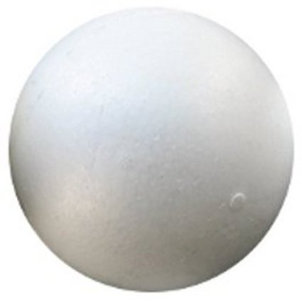 "LA Crafts Brand 6"" Smooth Foam Craft BALL- Polystyrene (Not Styrofoam) - 12 Pack"