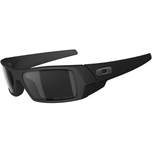 Oakley Gascan Men's Polarized Lifestyle Sportswear Sunglasses/Eyewear – Color: Matte Black/Black Iridium, Size: One Size Fits All