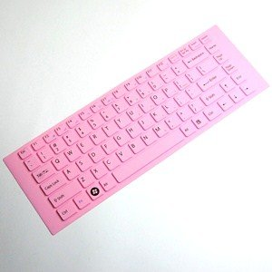 Cosmos Pink Keyboard sufficient for skin compataible with Sony VAIO EA-series VGP-KBV4/P + Cosmos cable tie