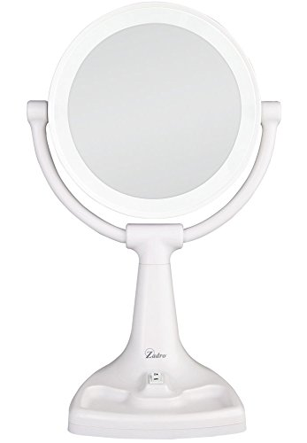 White Vanity With Mirror front-34785
