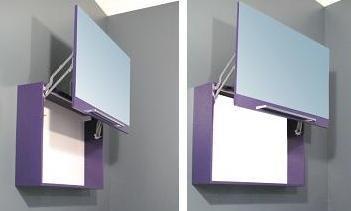 Specchio Specchiera contenitore da Bagno da 90x60Hx20P disp. in 20 colori