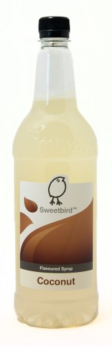 Sweetbird Coconut Flavored Syrup - 1 Liter (Vegan, Gmo Free, All Natural)