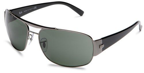 Ray-Ban Men's 3357 Double Bridge Sunglasses,Pewter