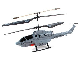 Combat Fighter New 3.5 Channel Missile Launching Helicopter (Gray Color) with Mini Tool Box (fs)
