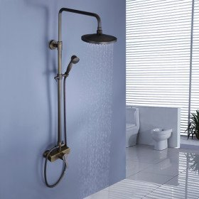 shower head wall mounted bathroom with handheld shower rainfall faucet