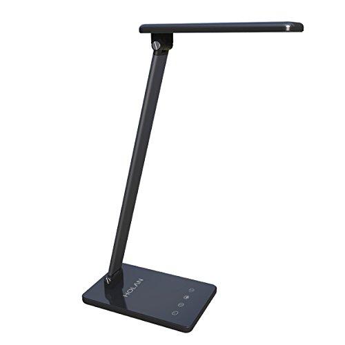 Lámpara de escritorio LED,Holan 8W Lámparas de mesa regulable Lámpara de protección para los ojos Panel de control sensible al tacto