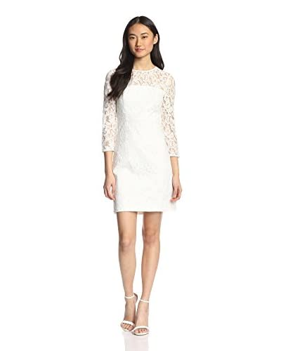 4.collective Women's Rose Lace Cropped Sleeve Dress