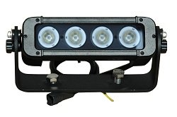 40 Watt Led Boat Light - 4, 10-Watt Leds - Adjustable Trunnion Mount - 450'L X 75'W Spot Beam(-Flood