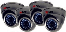 HQ-Cam® 4x Security Surveillance Bullet Camera -Built-in 3.6mm Lens 1/4