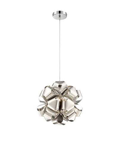 Alternating Current Cindy 1-Light Mini Pendant, Polished Stainless Steel