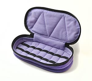 therapure-health-essentials-14-bottle-5-8-dram-essential-oil-carrying-case-deep-purple-with-lavender