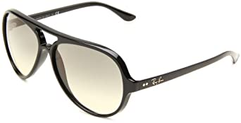 Ray-Ban Men's Cats 5000 Aviator Sunglasses, Black & Crystal Grey Gradient, 59 mm