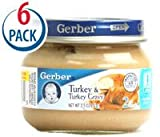 Gerber 2nd Foods Turkey and Turkey Gravy -- 2.5 oz Each / Pack of 6